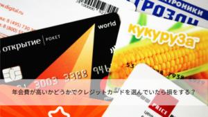 年会費が高いかどうかでクレジットカードを選んでいたら損をする?